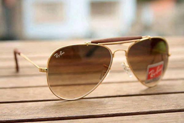 99875ce2cd62d Oculos Ray Ban Caçador Couro