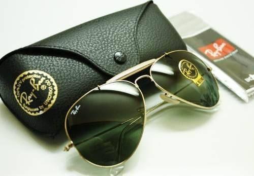 58c7164505c12 Oculos Ray Ban Caçador Dourado